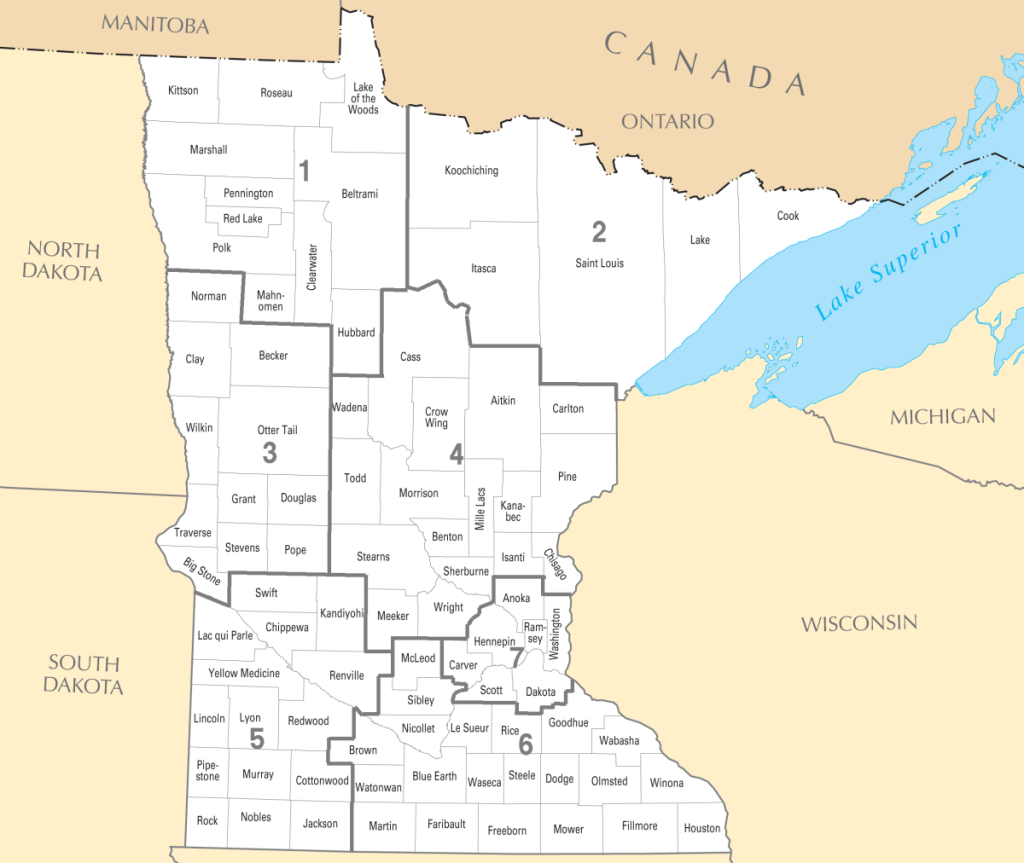 Districts of MNDONA